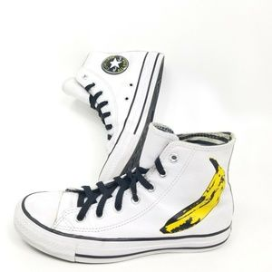 Converse Chuck Taylor Andy Warhol White Leather